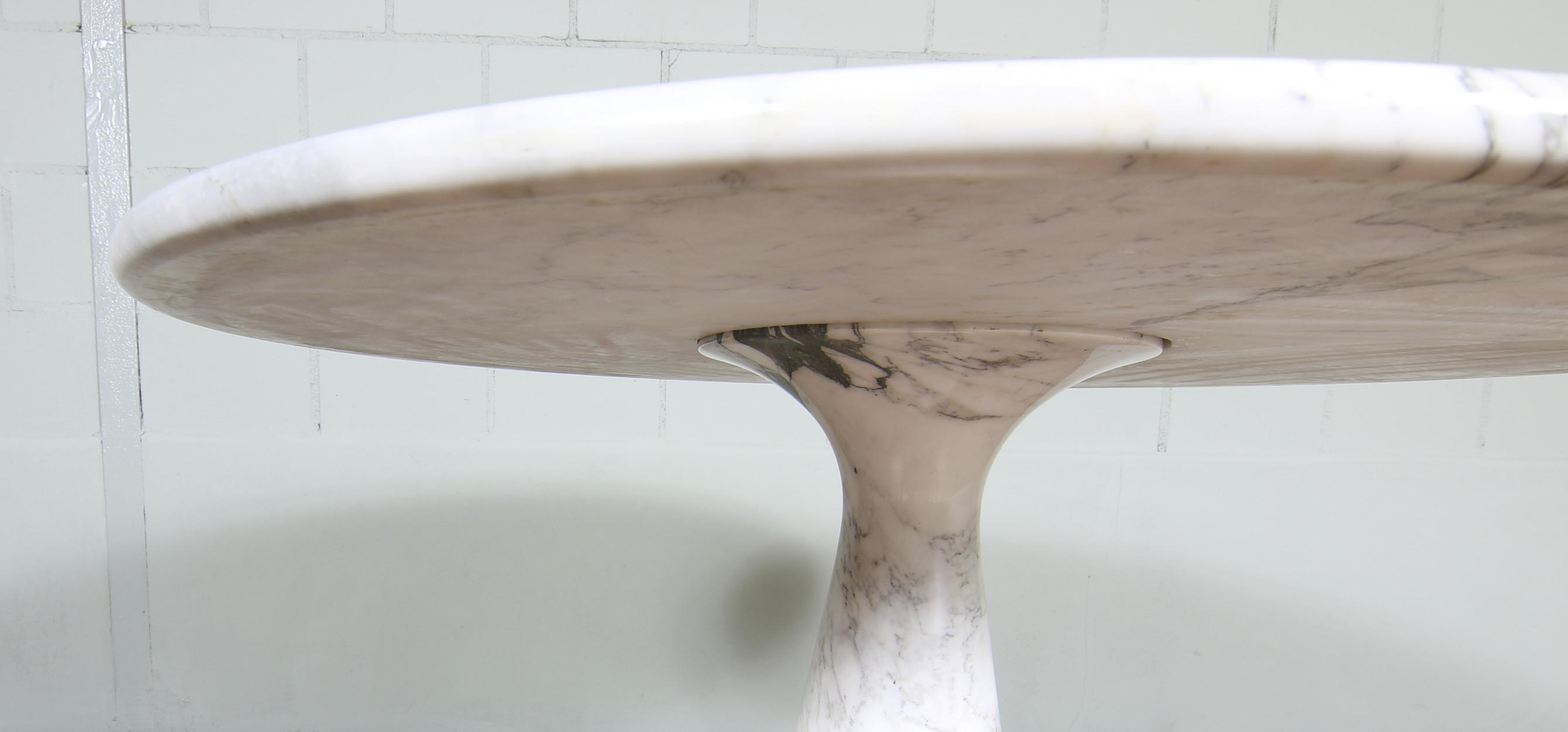 Angelo Mangiorotti Marble Dining Table Carrara Mariekke Vintage Design Furniture 4 Gd Duran